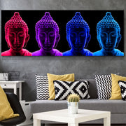 Coloured buddha Canvas Print