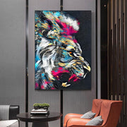 Lion Graffiti Art
