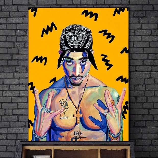 West Side Tupac canvas