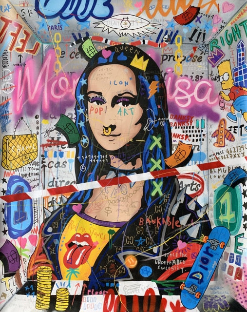 Mona Lisa Pop Street Art