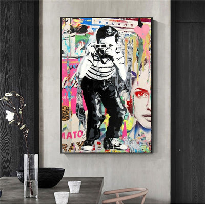 Banksy Street Art Boy