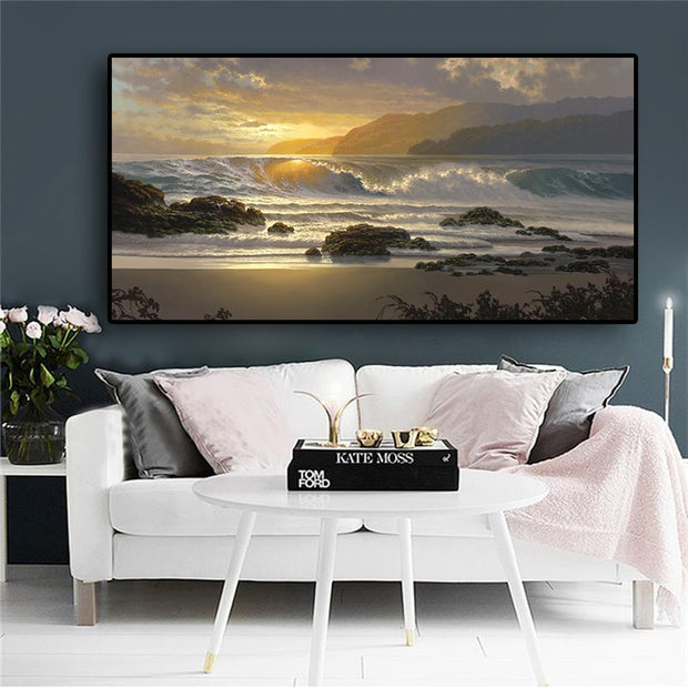 Sunrise Pipeline Canvas Print