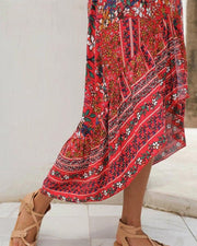Floral Bohemian High-Low Dress