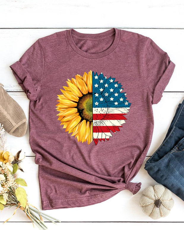 Sunflower & American T-Shirt