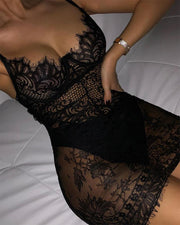 Lace Bodycon Cami Mini Dress