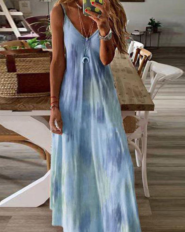 Tie Dye Cami Maxi Dress