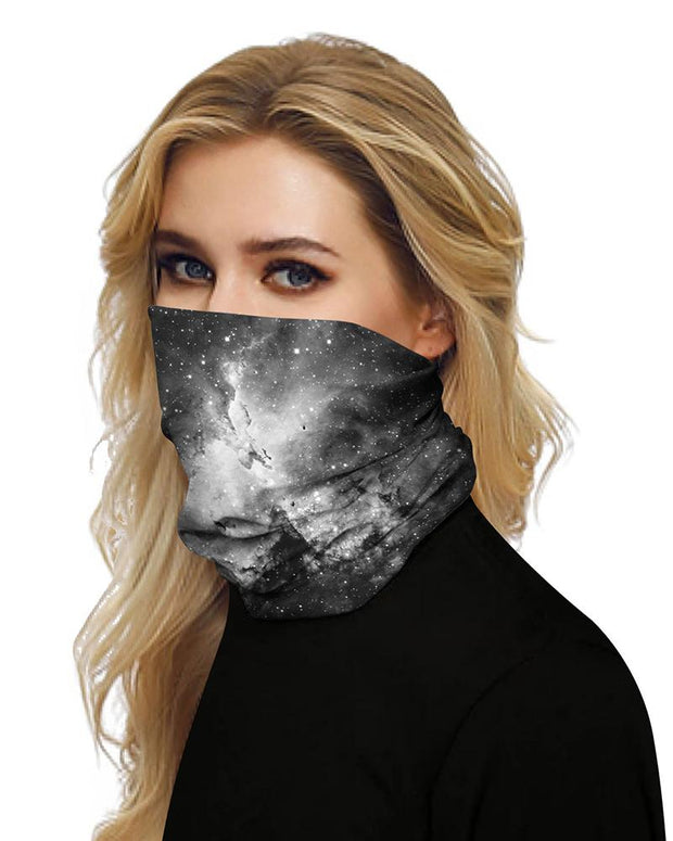 Dark Galaxy Print Breathable Face Bandana Magic Scarf Headwrap Balaclava