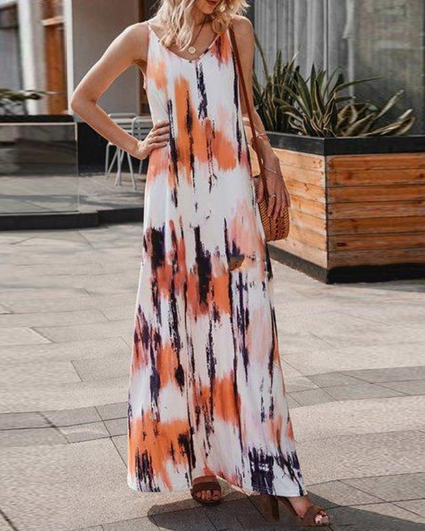 Tie Dye Maxi Cami Dress