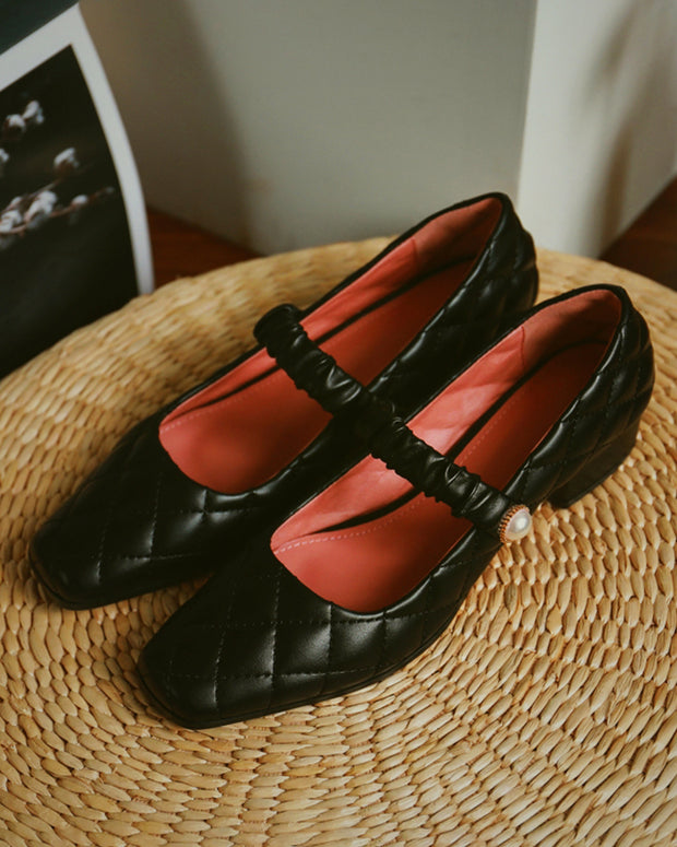 Retro Square Toe Merry Jenny Shoes