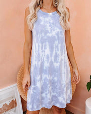Tie Dye Sleeveless Tank Dress