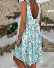Bow Strap Sleeveless Tank Dress