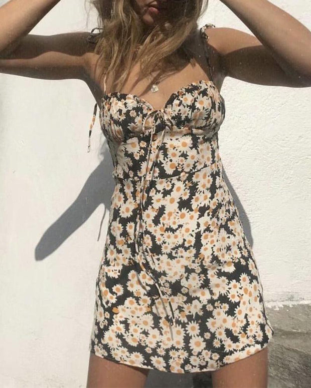 Daisy Print Cami Mini Dress