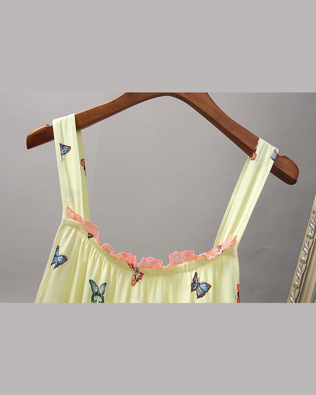 Butterfly & Floral Print Nightdress