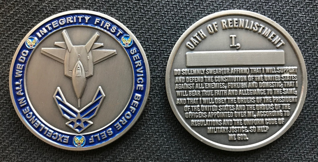 Air Force Reenlistment Coin 1.75