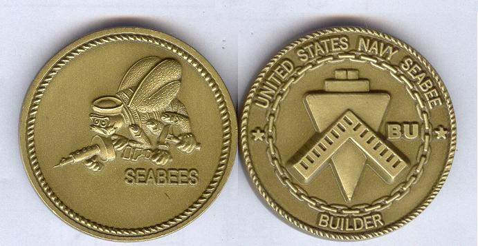 Seabee Rating Coin BU