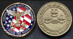 Navy CPO Retired Coin