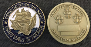 Navy CPO Initiation Coin 1