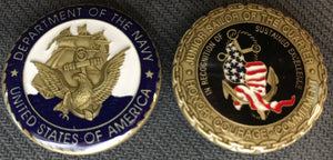 Navy Junior Sailor Of The Quarter Challenge Coin