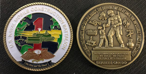 NMCB 1 Command Coins 1.75 in.