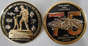 Seabee 75th Anniversary Coin