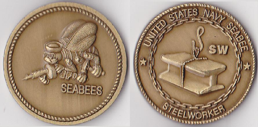 Seabee Rating Coin SW