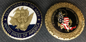 Navy Sailor Of The Year Challenge Coin