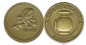 Seabee Rating Coin UT