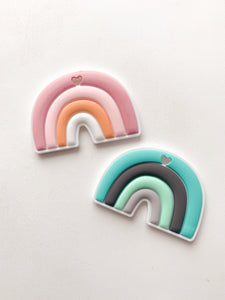 rainbow silicone teether
