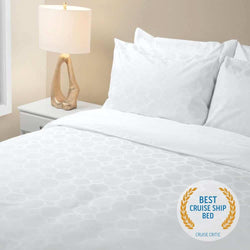 Princess Luxury Bed with Best Cruise Ship Bed award from Cruise Critic