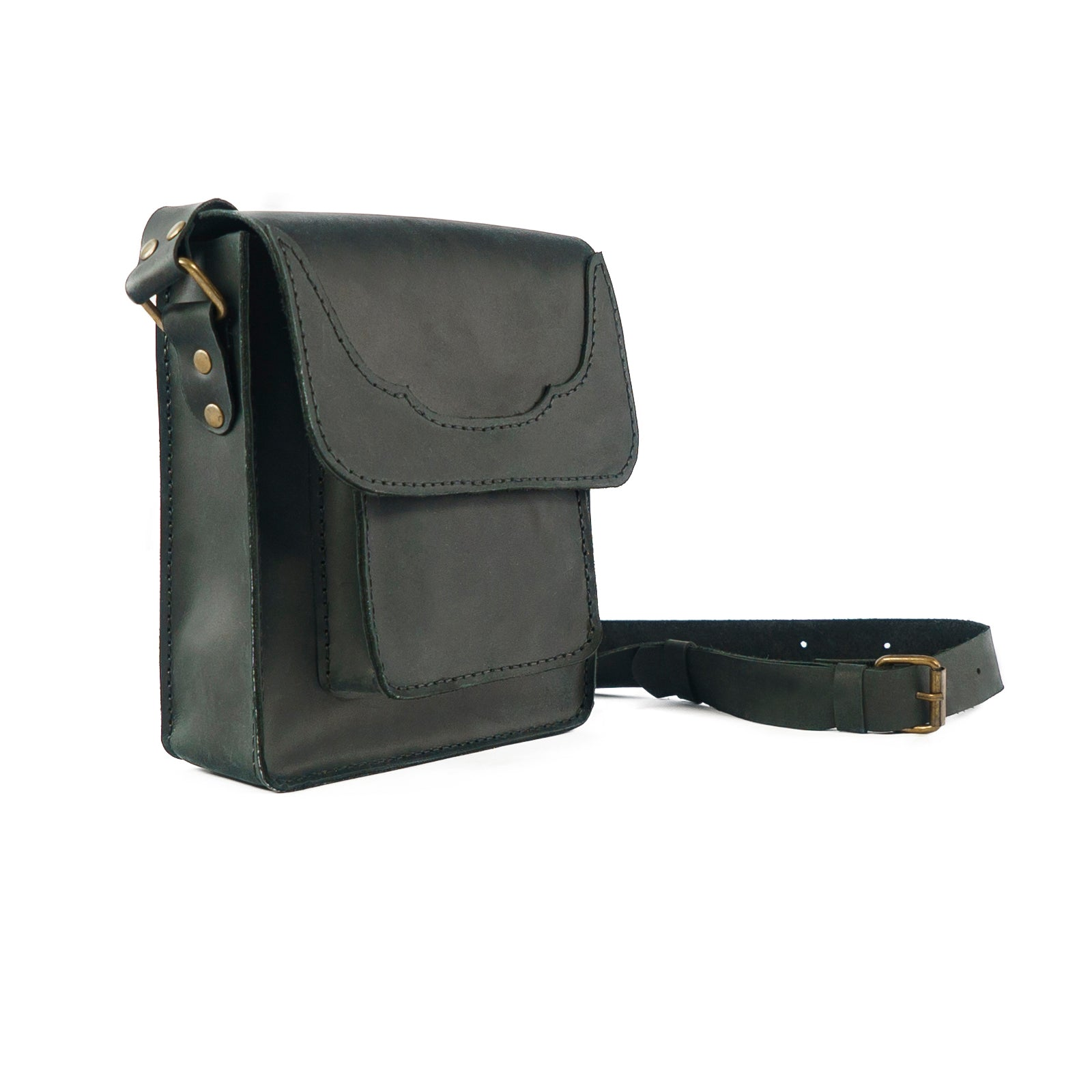 Derifix Battuta Black Handmade Leather Bag