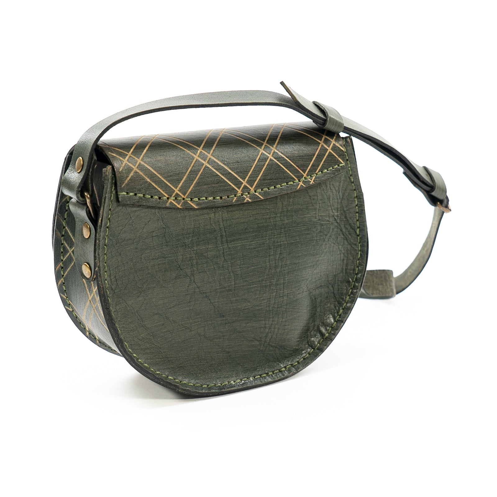 Derifix Joya Dark Green Women's Handmade Leather Bag