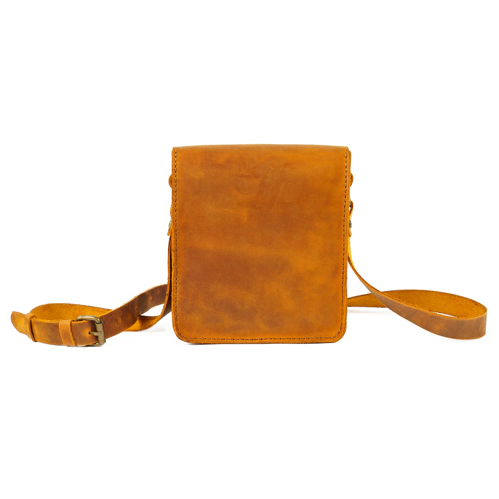 Derifix Battuta Camel Handmade Leather Bag