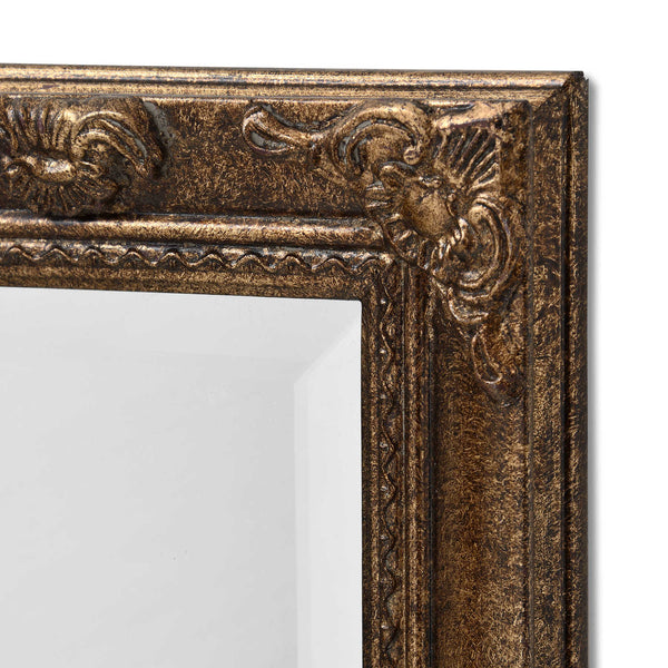 Carrow Vintage Gold Narrow Wall Mirror-I Love Retro