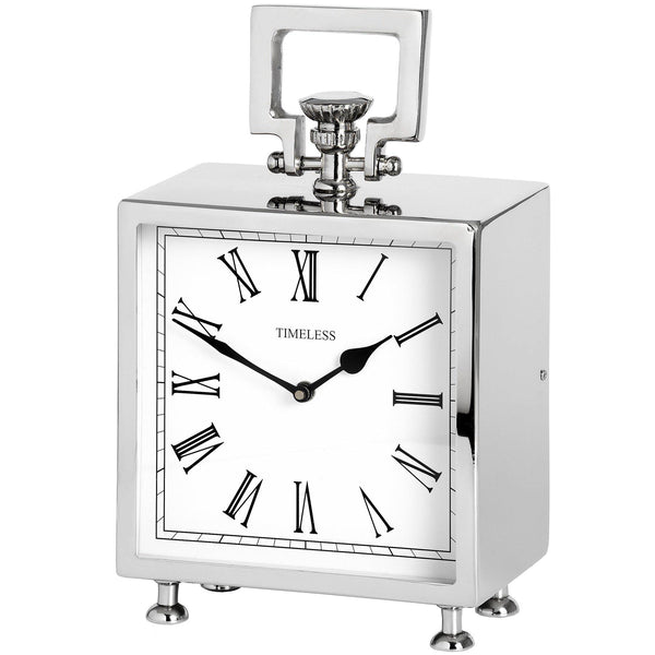 Diana Nickel Mantelpiece Clock-I Love Retro