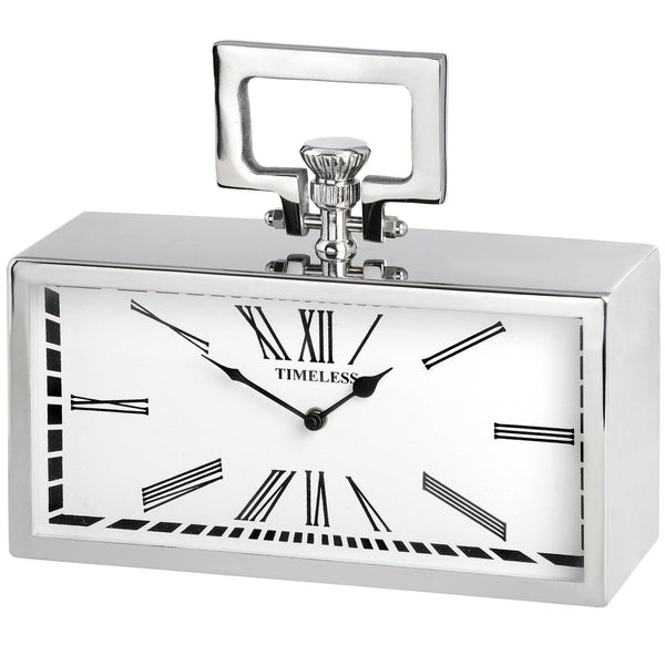 Diana Nickel Table Clock-I Love Retro