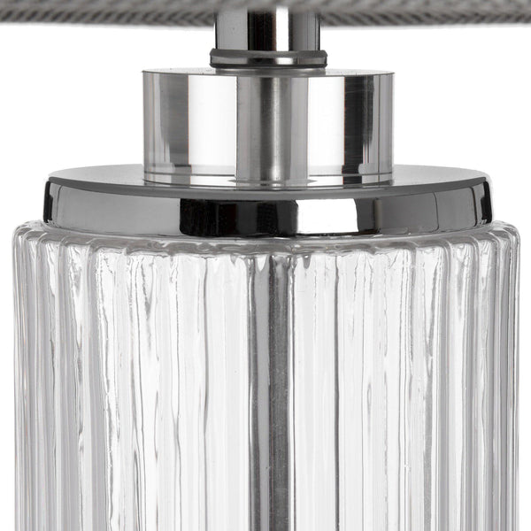 Tuscana Cylinder Glass Table Lamp-I Love Retro