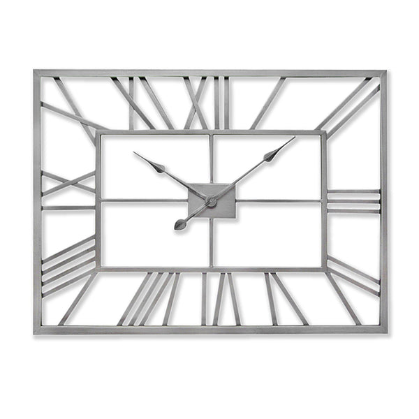 Arial Rectangular Skeleton Wall Clock-I Love Retro