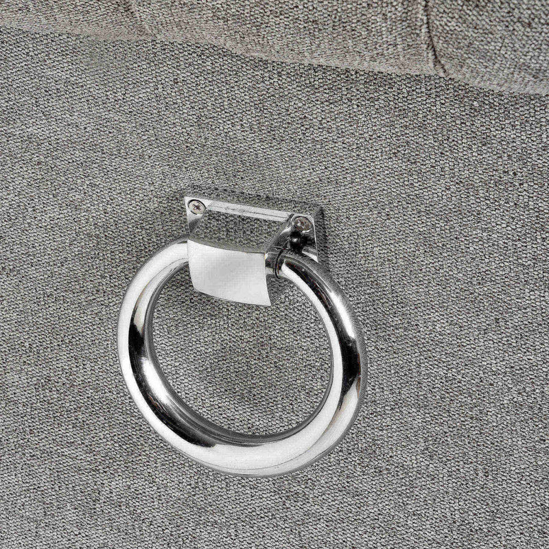 Hattie Roll Top Back Ring Grey Dining Chair-I Love Retro