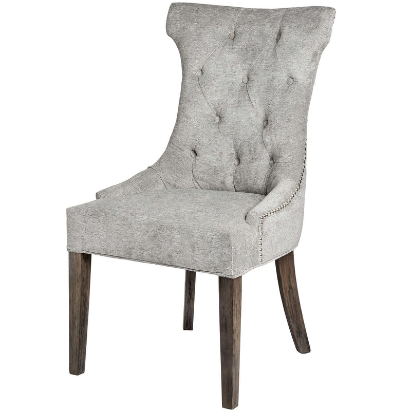 Tammie High Wing Back Ring Grey Dining Chair-I Love Retro