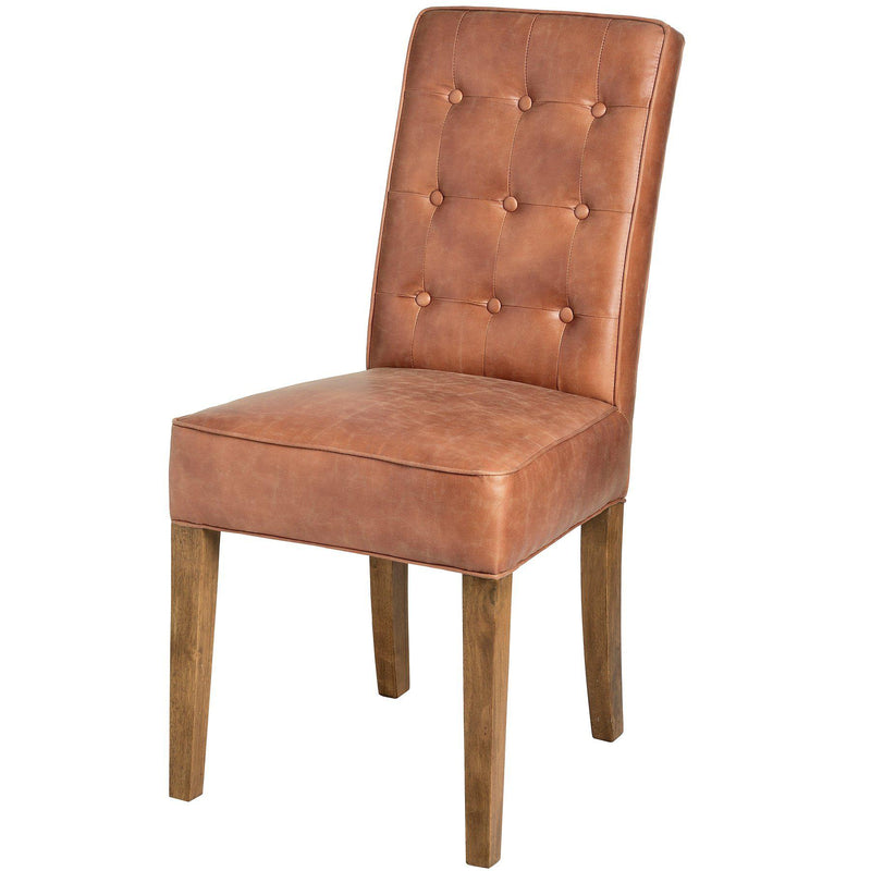 Averie Tan Faux Leather Dining Chair-I Love Retro