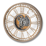 Jack Vintage Exposed Mechanism Round Wall Clock-I Love Retro