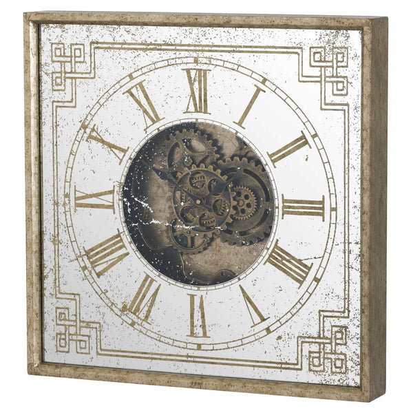 Jack Vintage Exposed Mechanism Square Wall Clock-I Love Retro