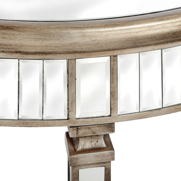 Altinum Venetian Mirrored Half Moon Semicircle Table-I Love Retro