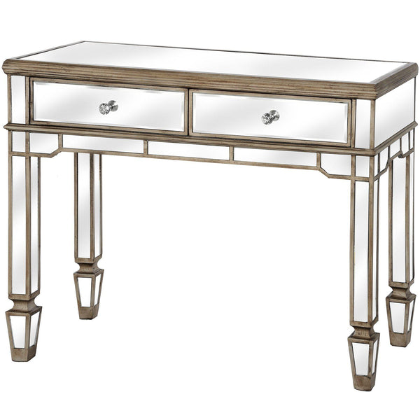 Altinum Venetian Mirrored Two Drawer Console Table-I Love Retro
