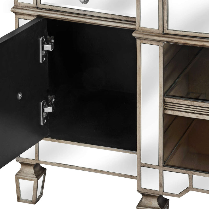 Altinum Venetian Mirrored TV Media Cabinet-I Love Retro