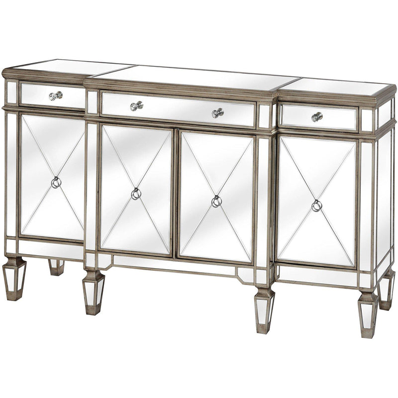 Altinum Venetian Mirrored Four Door Sideboard-I Love Retro