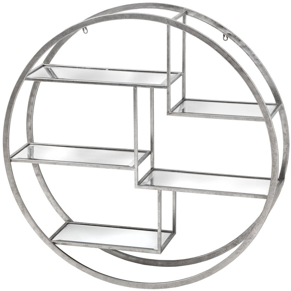 Bulda Large Silver Circular Multi Shelf-I Love Retro