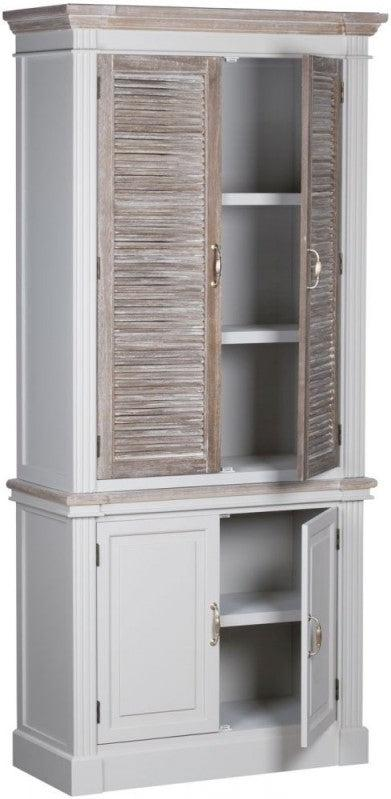 Odette Four Door Louvered Linen Cupboard-I Love Retro
