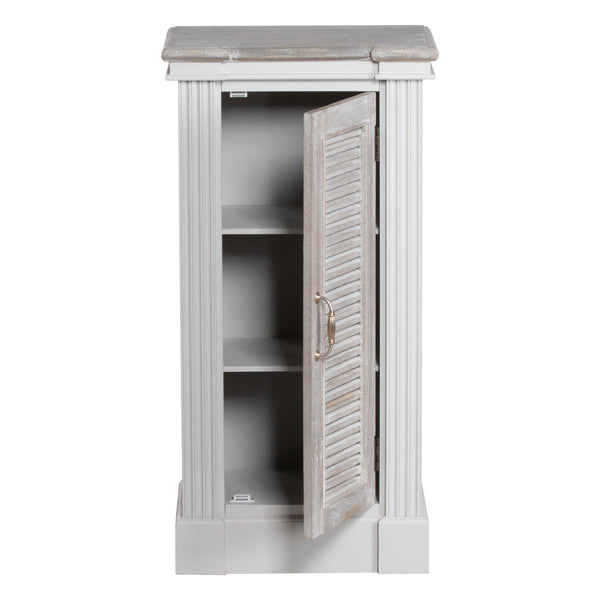 Odette Small Louvered Door Cabinet-I Love Retro