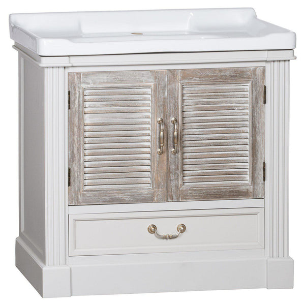 Odette Two Louvered Door Vanity Sink Unit-I Love Retro